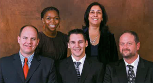 Awardees at the 2010 Laurel Awards (left to right): Barend Cronje (CoLAB), Karabo Molefe (CoLAB), Rinus Leeuwner (Kumba Iron Ore), Nafiza Abdoola (Kumba Iron Ore), Johan Steenkamp (CoLAB)