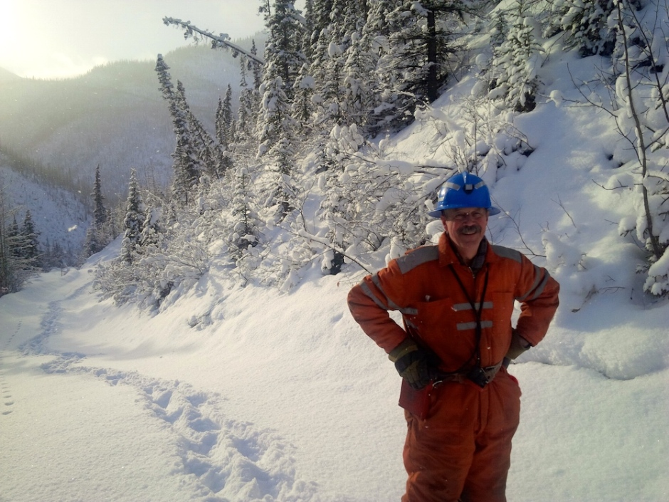 Tom Morrison on site at Canadian Zinc's Prairie Creek operation. (Photo courtesy of Tom Morrison)