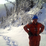 Tom Morrison at Canadian Zinc's Prairie Creek operation.